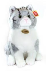 Plyšová kočka sedící 31cm
