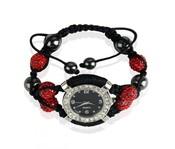 Náramek s hodinkami Shamballa LSB0021 červený