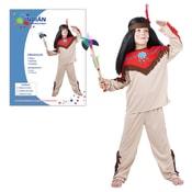 Dětský kostým INDIÁN vel.M (120-130 cm) 5-9 let