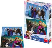 Puzzle 2x66 dílků Ledové království
