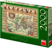 Puzzle 2000 dílků Mapa historická