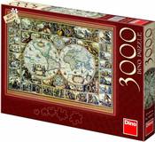 Puzzle 3000 dílků Mapa historická