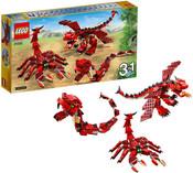 CREATOR Červené příšery Stavebnice 3v1 31032