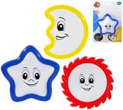 Noční dětské baby světlo tvary s úsměvem 3 druhy