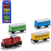 Sada železniční 3 vagónky s lokomotivou kov + plast 6291