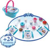 Koš piknikový set s nádobím a doplňky Ledové Království