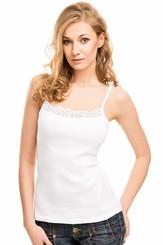 Spodní košilka Kenya white - ramínka