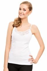 Spodní košilka Ofelia white - ramínka