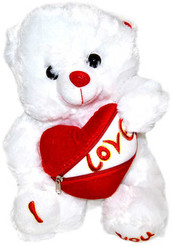 PLYŠ Medvídek se srdcem na zip Love 30 cm