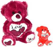PLYŠ Medvídek se srdcem Love 30 cm 2 barvy