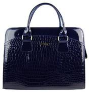 """Dámská luxusní taška na notebook modrý lak kroko ST01 15.6"""""""