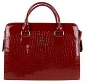 """Dámská luxusní taška na notebook karmínový lak kroko ST01 15.6"""""""