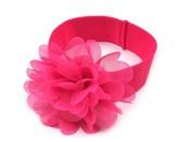 Dětská elastická čelenka s květem
