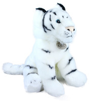 Plyšový tygr bílý sedící 30 cm