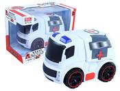 Auto ambulance v krabici, světlo + zvuk