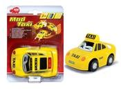 Autíčko MAD TAXI žluté na kartě 12 cm Světlo