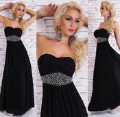 Dlouhé černé šaty st-sa182bl