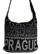 Moderní crossbody taška PRAGUE s šedým potiskem