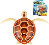 Robo želva hnědá robotická želvička na baterie
