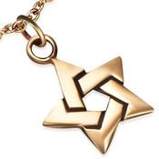 Přívěsek z bronzu - Davidova hvězda th-bzp032