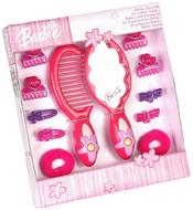 Set kadeřnický plastový Barbie hřeben zrcátko sponky