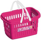 Košík nákupní plastový Barbie růžový