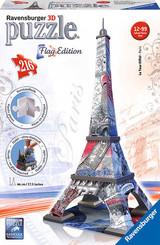 Puzzle 3D Eiffelova věž 216 dílků vlajková edice