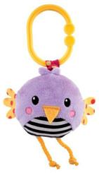 Ptáček fialový vibrující chrastítko BABY Pro miminko
