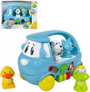 Auto hrající BABY se zvířátky PLAST Světlo + Zvuk