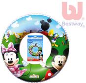 Nafukovací dětský plavací kruh Minnie a Mickey Mouse 56cm do vody