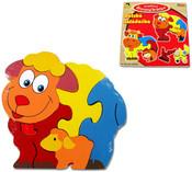 Skládací zvířátka puzzle skládačka 4 druhy