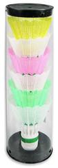 Košíčky (míčky) na badminton 6 ks v sadě barevné umělohmotné