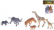 Zvířátka divoká 8-16cm Safari set matka a mládě 6ks v sáčku plast