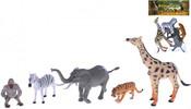 Zvířátka divoká 6-17cm Safari set 5ks v sáčku plast