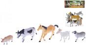 Zvířátka hospodářská 8-15cm set Farma 5ks v sáčku plast