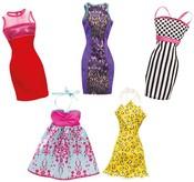 BRB Party šaty pro panenku BARBIE 5 druhů
