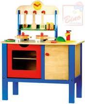 Dřevěná DĚTSKÁ KUCHYŇKA s nádobím a doplňky