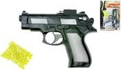 Pistole dětská plastová na kuličky 15 cm kuličková set s náboji v sáčku