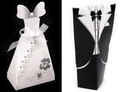 Papírová krabička s ženichem a nevěstou