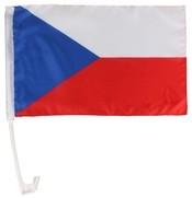 Vlajka na okno auta Česká republika