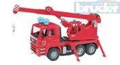 02770 (2770) Nákladní auto MAN - jeřáb požární + maják + zvuk