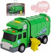 Auto popelářské zelené 15cm na baterie Světlo Zvuk plast