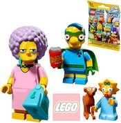 Minifigurka plastová set s doplňky v sáčku Simpsonovi 2.serie 16 druhů