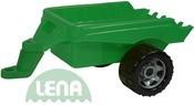 Přívěs zelený plastová vlečka k maxi autům 50cm