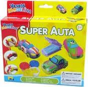 Modelína veselá super auta set s formičkami a vykrajovátky