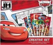 Kreativni set s voskovkami a samolepkami Auta (Cars)