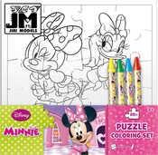 Omalovánky puzzle s voskovkami Disney Minnie Mouse