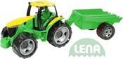 Traktor plastový zelený set s přívěsem 94cm v krabici