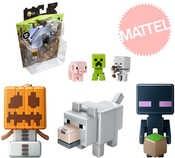 Postavička Minecraft set minifigurka 3ks na kartě 4 druhy plast