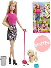 BRB Barbie panenka s pejskem set s doplňky pečujeme o štěňátko plast